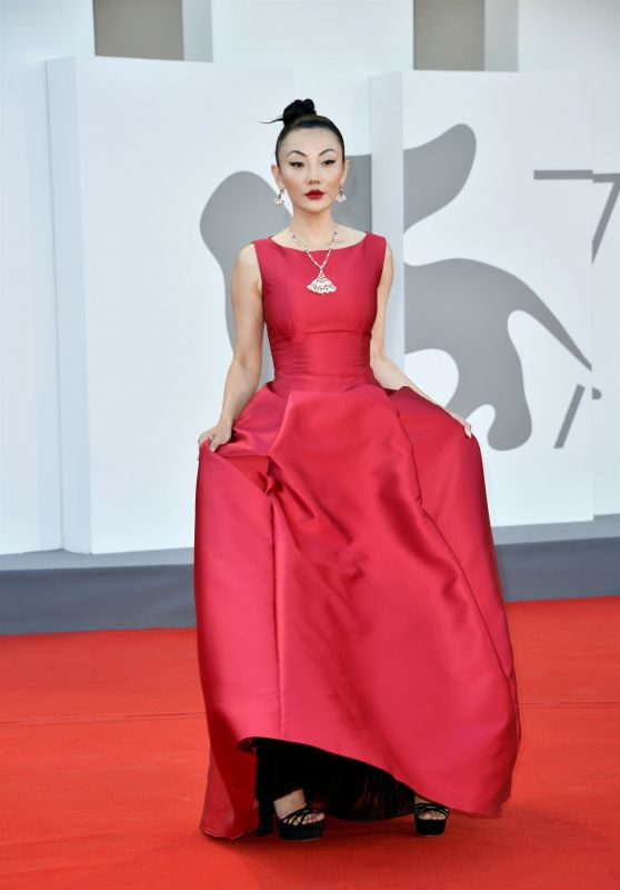 """Jessica Wang – """"Illusions Perdues"""" Red Carpet at the 78th Venice International Film Festival"""