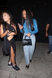 Jordyn Woods, Elisabeth Woods and Jodie Woods - Birthday Party at The Nice Guy in West Hollywood 09/18/2021