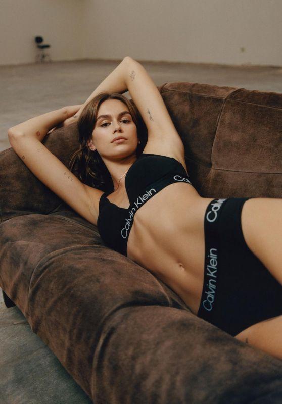 Kaia Gerber - Photoshoot for Calvin Klein September 2021