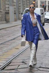 Karina Nigay at the Ermanno Scervino Fashion Show in Milan 09/25/2021