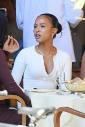 Karrueche Tran at the Cipriani Downtown in NY 09/07/2021