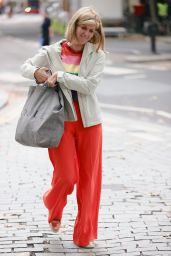 Kate Garraway in a Rainbow Jumper and Bright Orange TRrousers - London 09/27/2021