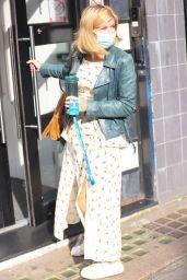 Kate Garraway in Floral Split Dress in London 09/06/2021