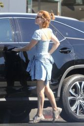 Kate Mara in a Cute Polka Dot Dress - Los Feliz 09/14/2021