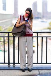 Kendall Jenner Street Style - New York City 09/11/2021