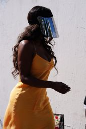 Kenya Moore at the Dancing With The Stars Rehearsal Studio in LA 09/02/2021
