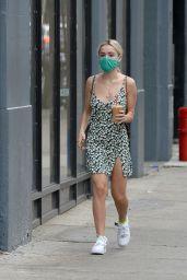 Kiernan Shipka in Summer Mini Dress - New York 09/07/2021