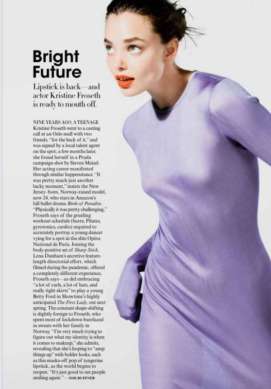 Kristine Froseth - Vogue Magazine September 2021 Issue