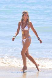 Lady Victoria Hervey in a White Bikini - Beach in Malibu 09/04/2021