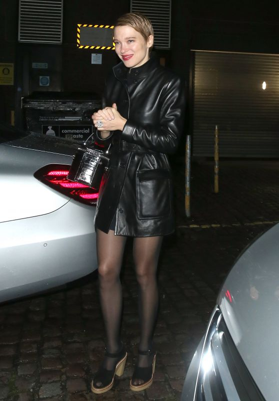 """Lea Seydoux - Leaving """"No Time To Die"""" Premiere After Party in London 09/28/2021"""