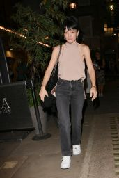 Lily Allen in a Blush Top and Denim - London 09/07/2021