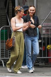 Lily-Rose Depp and Margaret Qualley - Out in New York City 09/05/2021
