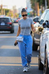 Lori Harvey Wears Blue Sweats and Chanel Bag - West Hollywood 09/20/2021