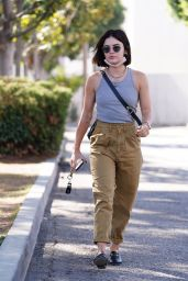 Lucy Hale in Casual Outfit in Studio City 09/14/2021