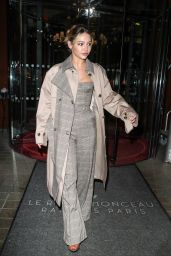 Madelyn Cline - Steps Out of the Hotel Royal Monceau in Paris 09/29/2021