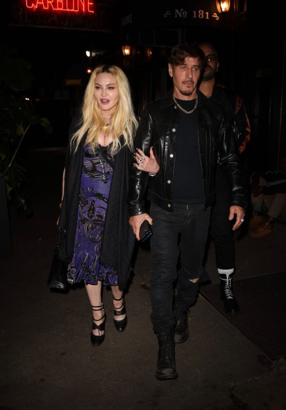 Madonna - Leaves Scooter Braun's Private Dinner Party at Carbone in New York 09/14/2021