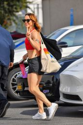 Melanie Chisholm - Leaves DWTS Rehearsals in Los Angeles 09/29/2021
