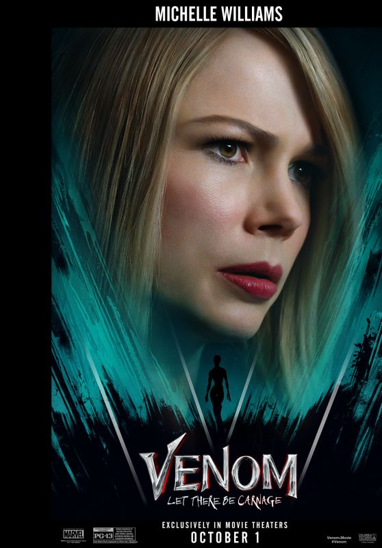 """Michelle Williams - """"Venom: Let There Be Carnage"""" Poster 2021"""