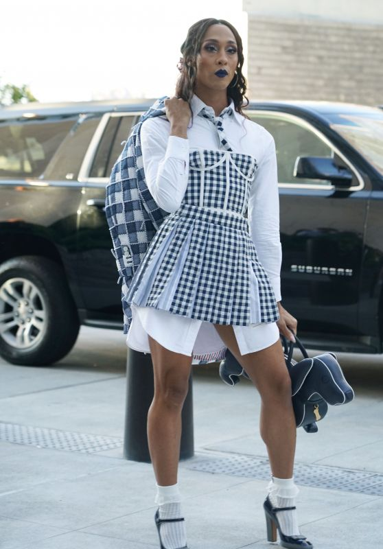 MJ Rodriguez at Thom Browne Fashion Show in New York 09/11/2021