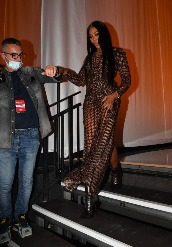 Naomi Campbell - Balmain Fashion Show in Paris 09/29/2021