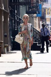Nicky Hilton in a Colorful Summery Dress - Shopping in Manhattan's Soho Area 09/06/2021