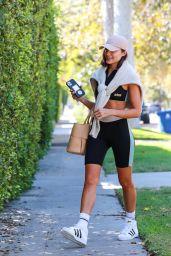 Olivia Culpo at a Pilates Class in LA 09/22/2021