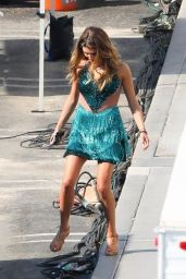 Olivia Jade Giannulli in a Green Gown and Glam - DWTS Filming in LA 09/20/2021