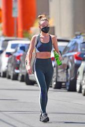 Olivia Wilde Wearing a Sports Bra and Leggings - Silverlake 09/27/2021