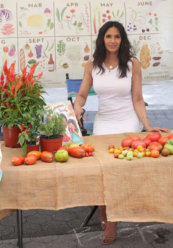 Padma Lakshmi - Book Signing for her book Tomatoes for Neela at the Union Square Greenmarket 09/03/2021