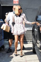 Paris Hilton at Crumbs & Whiskers | Kitten & Cat Cafe on Melrose Ave in LA 09/02/2021