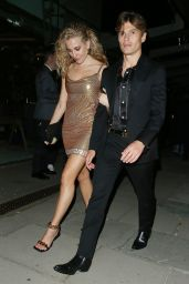 Pixie Lott With Oliver Cheshire after The GQ AfterParty in London 09/02/2021