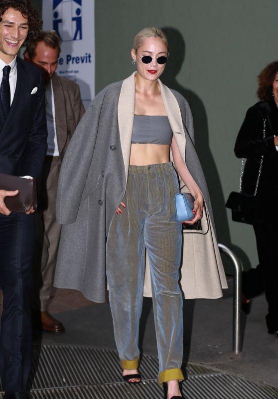 Pom Klementieff - Giorgio Armani Fashion Show in Milan 09/25/2021