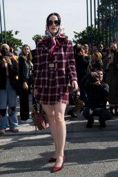 Rachel Brosnahan - Dior Show at Paris Fashion Week 09/28/2021