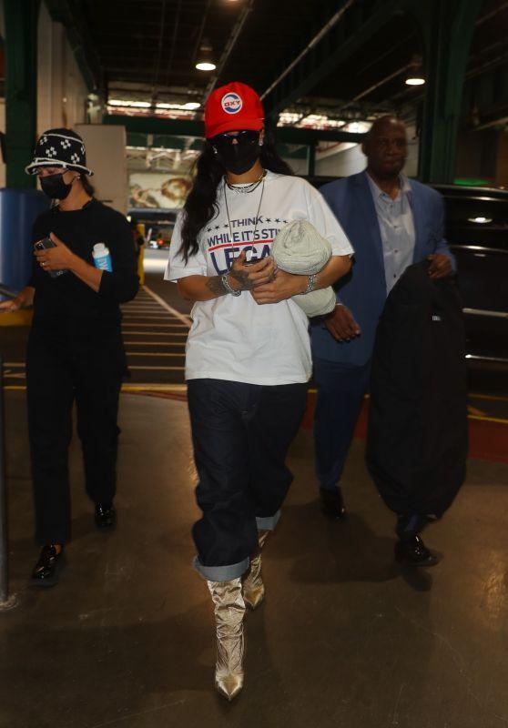 Rihanna Street Style - NYC 09/24/2021