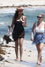 Rosario Dawson at the Beach in Miami 09/15/2021
