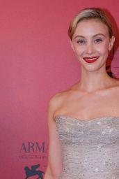 Sarah Gadon – Armani Beauty Exclusive Dinner at the 78th Venice International Film Festival