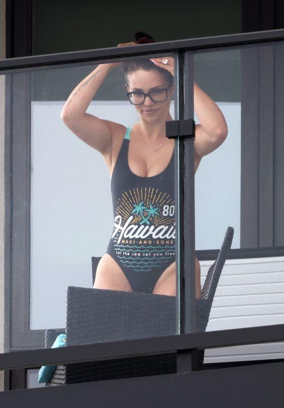Scheana Shay in a Swimsuit on Her Balcony in LA 09/28/2021