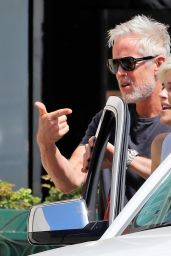 Selma Blair and Ron Carlson at Alfred Coffee in Los Angeles 09/16/2021