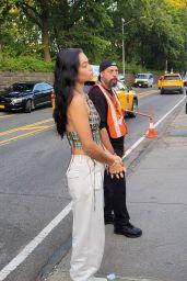 Shanina Shaik at Central Park in New York 09/25/2021