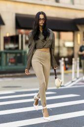 Shanina Shaik Street Fashion - New York 09/27/2021