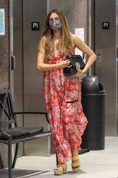Sofia Vergara Wears a Red Floral Dress - Century City 09/21/2021
