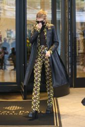 Stella Maxwell - Heads to the Versace Special Event in Milan 09/26/2021