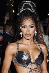 Teyana Taylor – Celebrities Departing The Mark Hotel in NYC for the 2021 Met Gala