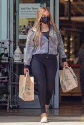 Tyra Banks in Black Leggings at Whole Foods in Malibu 09/15/2021