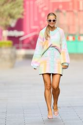 Vogue Williams in a Pastel Patchwork Two Piece - London 09/12/2021