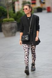 Zoe Hardman in Print Trousers and Black Blazer - London 09/12/2021