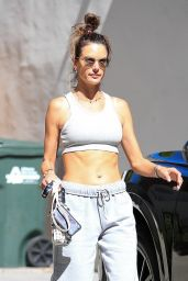 Alessandra Ambrosio - Leaving Pilates Class in West Hollywood 10/12/2021