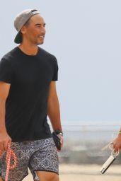 Alessandra Ambrosio on the Beach in Santa Monica 10/07/2021
