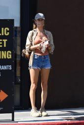 Alessandra Ambrosio Wears Daisy Dukes - Venice Beach 10/03/2021