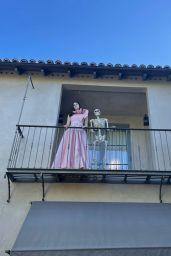 Alexandra Daddario - Live Stream Video and Photos 10/13/2021